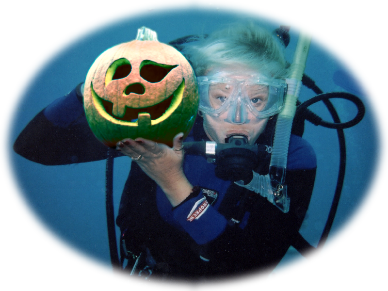 Diver with Pumpkin