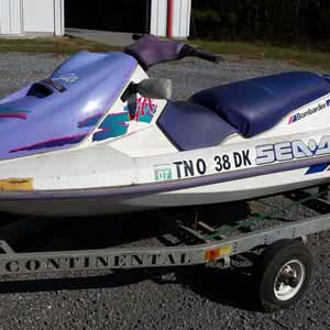 We have received our first donation to be submerged in the Loch for divers' enjoyment - a jetski!